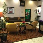The lobby was bright and festively decorated...a good first impression.