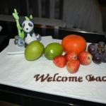 The Fruits served on our return stay.