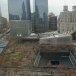 The view from the 18th floor of the World Centre Hotel, New York