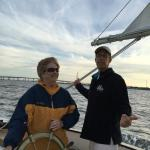 "Sailing with captain Greg on His sail boat ""Freedom"". It was great fun!!"