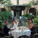 Breakfast in the Biltmore courtyard