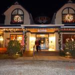 Christmas Night Front of Eight Gables Inn