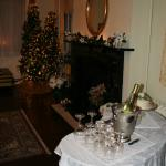 The parlor where we were married, beautifully decorated