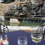grotto by outdoor dining area