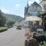 Main road outside the Hotel Hohenzollern