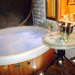 Hot tub and Prosecco, doesn't get much better than this.