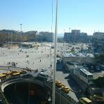 taksim sq from restaurant view