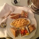 room service, smoked salmon with french fries!
