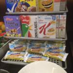 Cereals offered at breakfast