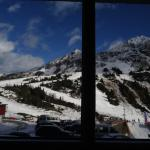 View of the piste from our room