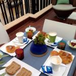 Breakfast served at our own balcony