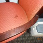 Large stain on chair. I wanted to clean it for them!