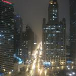 View of Wabash at Night From Room