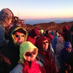 Dress warmly for the wait - it took 50 minutes from first lights to the sun had risen with windc