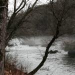 Hiwassee River at the foot of the cabin