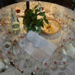 """Our table after the """"light lunch"""""""