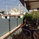 View of the Blue Mosque on the breakfast patio!