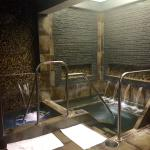 The Spa at Wind Creek - the cold plunge pool on left & the hot tub on right.