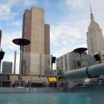 The Empire State Building, from the pool