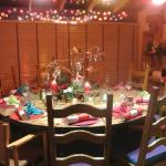 The setting for a delightful Christmas Feast
