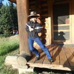 My kids playing cowboy