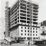 The Bergonian Hotel construction, 1927.