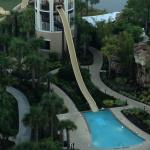 Water Slide view from room