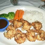 Coconut shrimp - perfectly cooked -tender and tasty!
