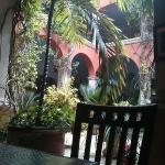 Lobby view from restaurant