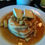 Pancakes Bess made that were featured on TV! Apple and brie heaven!