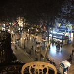 Gorgeous view from our balcony overlooking La Rambla. I Miss this balcony!!!