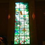 Stained glass art at 1 of the tower's lobby