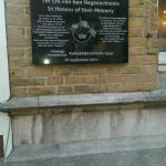 Historical Plaque giving brief history of this hotel during the war