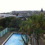 Pool and view of Penzance