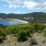Looking back to Catseye Beach and Whitsunday Apartments