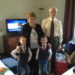 My two sons with Gran & Grandad