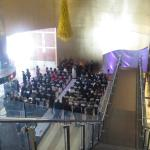 Brown Wedding from third floor stairway view