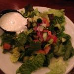 House salad with ranch on the side