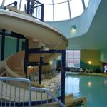Pool area........slide..