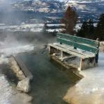 Natural hot spring on the mountain beside hotel