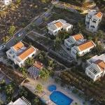 Air view of the villas