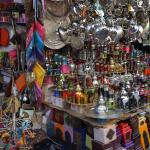 a colorful shop in the souk