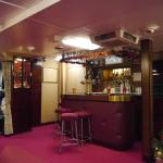 One of several bars on board for the crew
