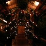 Entry to Wickaninnish Inn at Christmas