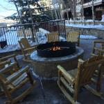 firepit/pool area slopeside