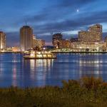View of downtown New Orleans just across the river from Algiers Point