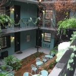 the courtyard from second floor balcony