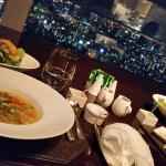 New year dinner with amazing view from Azure 45 resturant