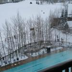 Hot Tubs and Heated pool from our balcony