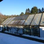 Snow-Covered Solarium Pool